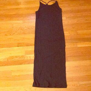 Gap grey knit ribbed dress